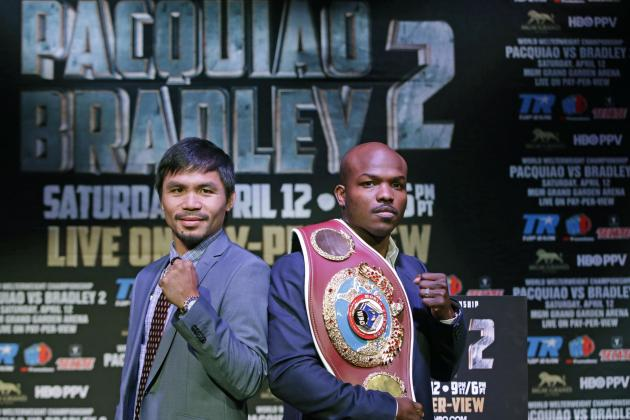 Pacquiao vs. Bradley 2 Odds: Lines and Prediction for Rematch