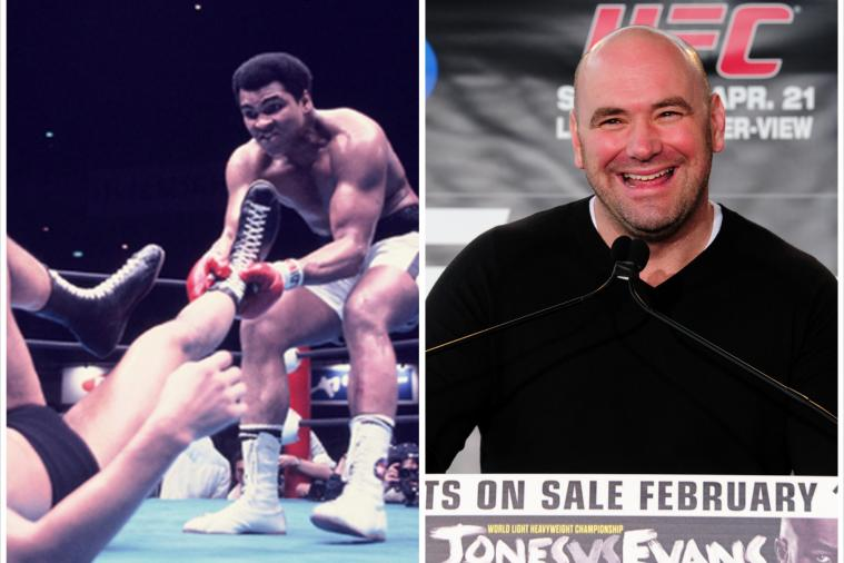 Muhammad Ali Tweets at UFC Pres. Dana White About Being 'Original MMA Fighter'