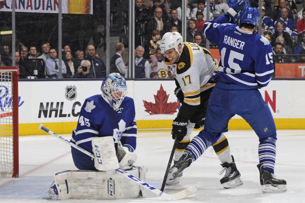 Bernier Leaves Game with Apparent Leg Injury