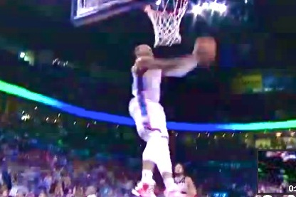 Russell Westbrook Picks Marco Belinelli Pass and Throws Down Reverse Dunk
