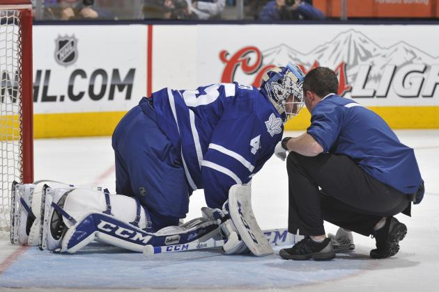 Leafs' Goalie Bernier (lower-Body) to Have MRI Tomorrow