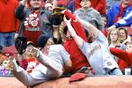 Cardinals' Matt Adams Shoves Fan, Gets Flipped Off
