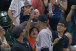 Adult Tries to Steal Ball from Little Girl, Jeter Not Having It