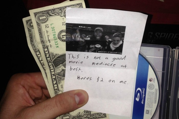 Seahawks Fan Warns Redbox User with Richard Sherman Note