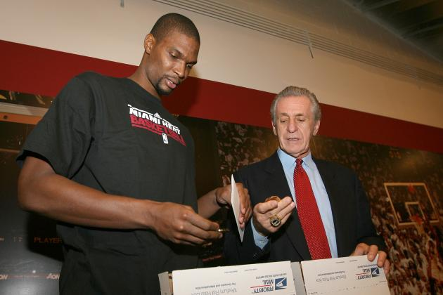 Chris Bosh Still Hasn't Given Pat Riley His Championship Ring Back