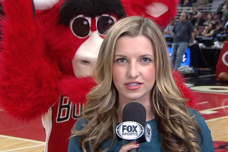 Chicago Bulls Mascot Benny the Bull Videobombs Broadcast