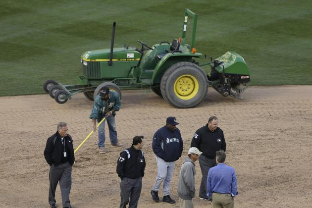 A's vs. Mariners Game Postponed Due to Field Conditions at Oakland Coliseum