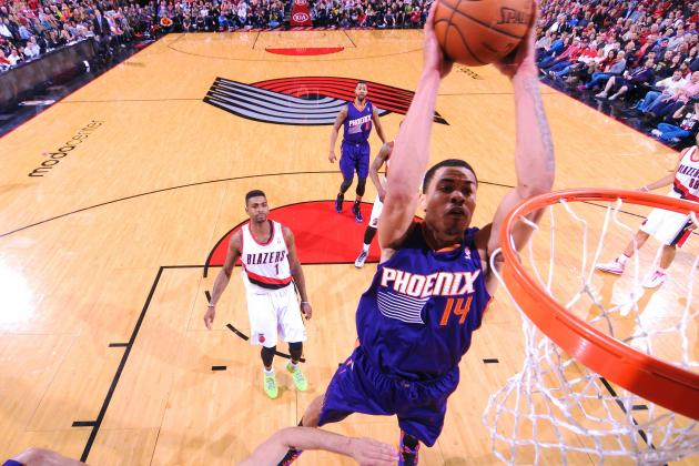 Gerald Green Alley-Oops Himself for Huge Dunk Against Portland Trail Blazers