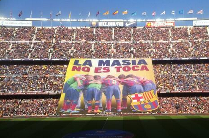 Image: Defiant Barca Fans' Message to FIFA