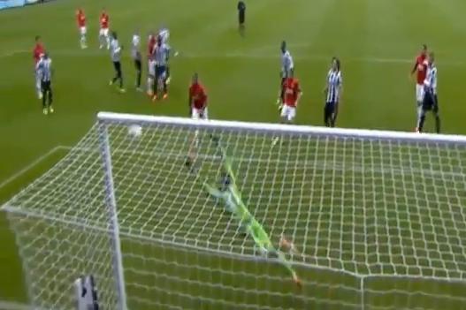 Juan Mata Free Kick Goal Newcastle 0-1 Manchester United