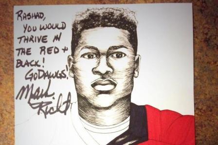 Mark Richt Sends Intricate, Hand-Drawn Portrait to Georgia Recruit