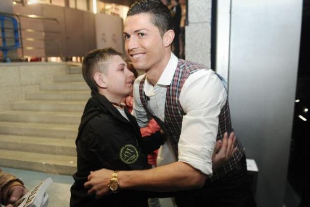 Cristiano Ronaldo Brings Fan Who Just Recovered from Coma to Dortmund Clash