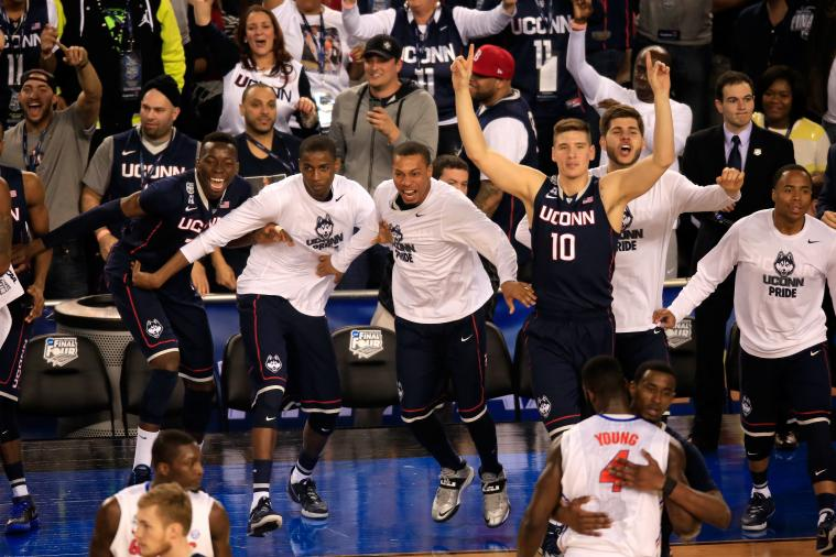 UConn Students Celebrate After Huskies Advance to National Championship
