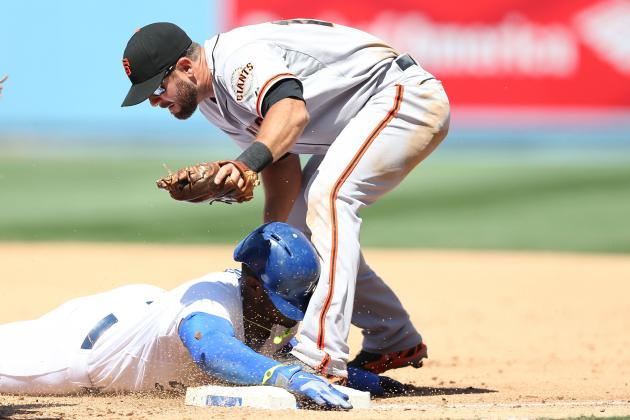 Yasiel Puig Injured His Thumb Diving Head-First into First Base