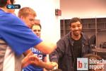 Kentucky 'Fan' Drake Celebrates in Locker Room