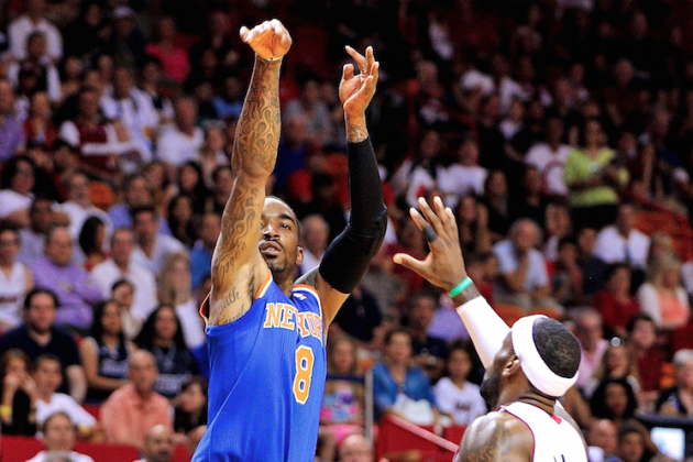 JR Smith Sets Knicks Record for 3-Pointers Made in a Game