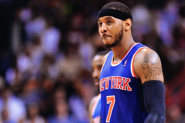 Carmelo Anthony Comes Up Empty as Knicks' Playoff Chances Waste Away