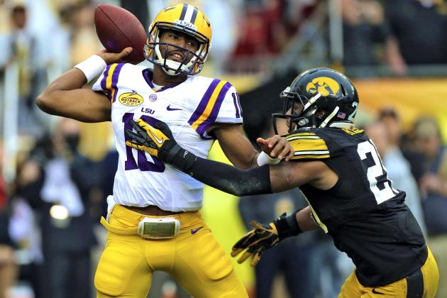 LSU Spring Game 2014: Brandon Harris Shines, but Tigers' QB Battle Far from over