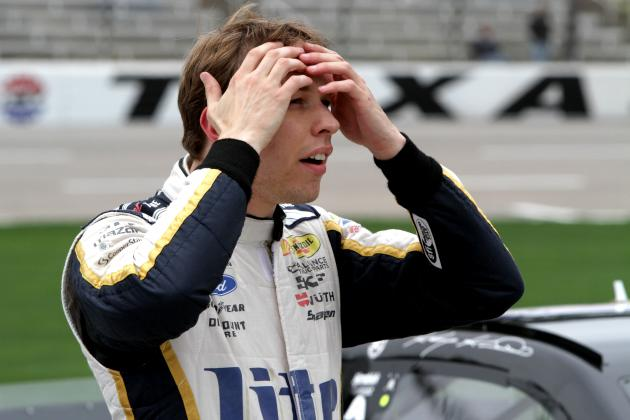 Brad Keselowski Car Damaged by Jet Dryer at Texas