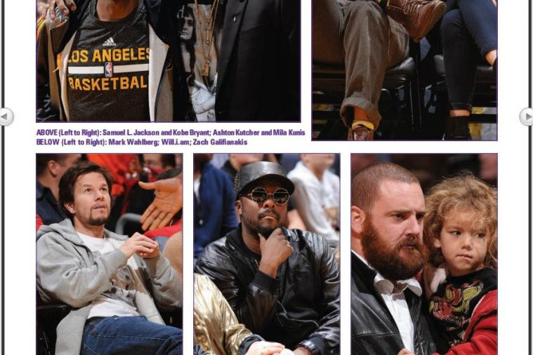 'Lakers Magazine' Incorrectly Believes Man in Stands Is Zach Galifianakis