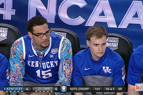 Kentucky's Willie Cauley-Stein Wears Wild Shirt Underneath Jersey Against UConn