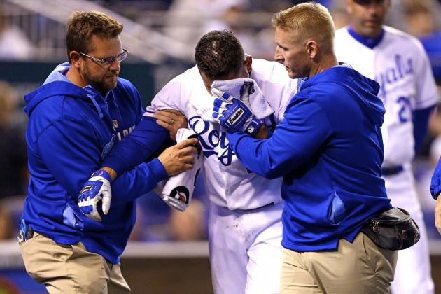 Omar Infante Injury: Updates on Royals 2B's Jaw and Return