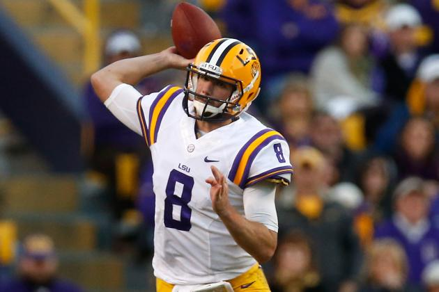 Patriots to Meet with LSU QB Zach Mettenberger