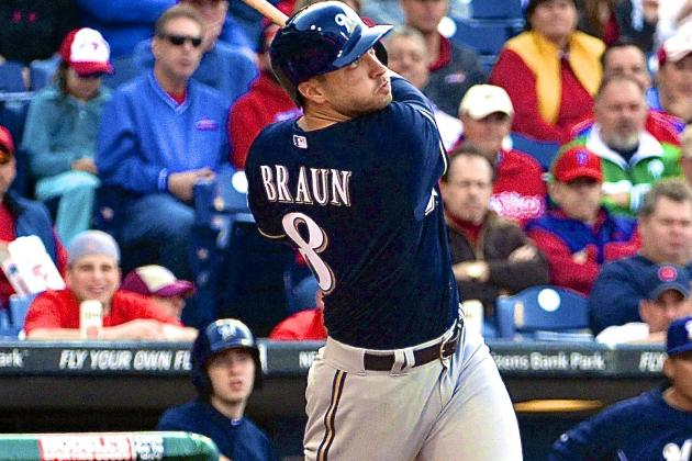 Ryan Braun Smashes 3 Home Runs in Brewers' 10-4 Rout of Phillies