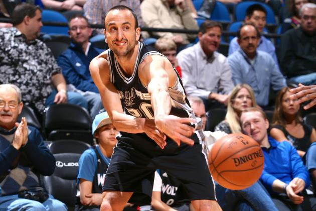 Manu Ginobili Injury: Updates on Spurs Guard's Calf Contusion and Return