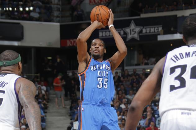 KD's 25-Pt Streak Ends as Thunder Beat Kings