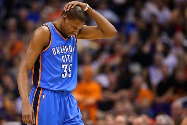 Kevin Durant's Monster Scoring Streak Finally Comes to End at 41 Games