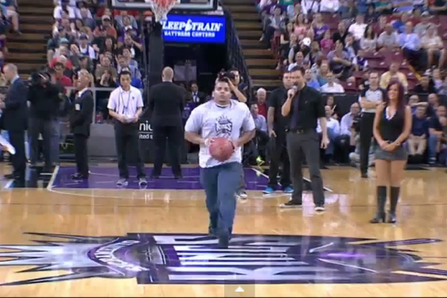 Sacramento Kings Fan Nails Half-Court Shot to Win Free Car