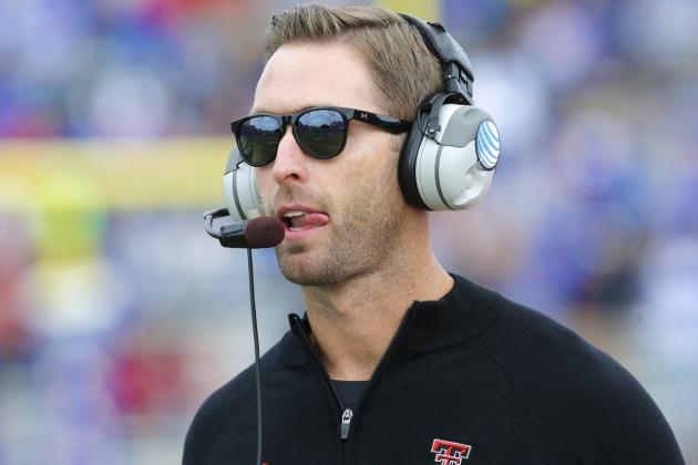 Texas Tech Coach Kliff Kingsbury Admits Single Moms of Recruits Flirt with Him