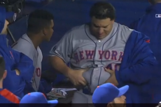 Mets' Bartolo Colon Jiggles His Belly After Strong Outing