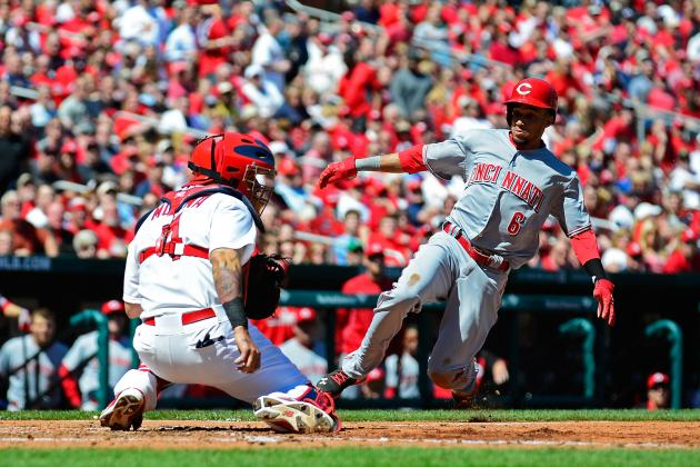 Billy Hamilton Just Scored from Third Base on a Pop Fly Tosecond