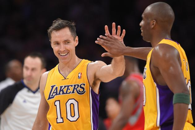 Lakers' Steve Nash Moves into 3rd Place on NBA's All-Time Assists Leaderboard