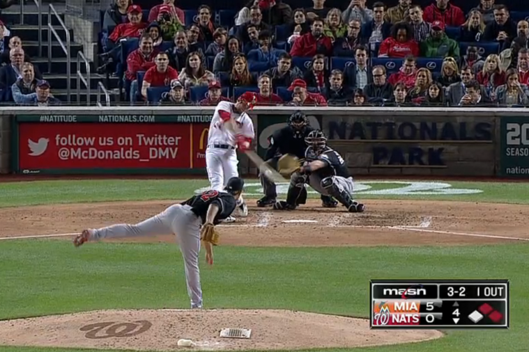 Bryce Harper Hit a Monster 3-Run Home Run to the Upper Deck vs. Miami