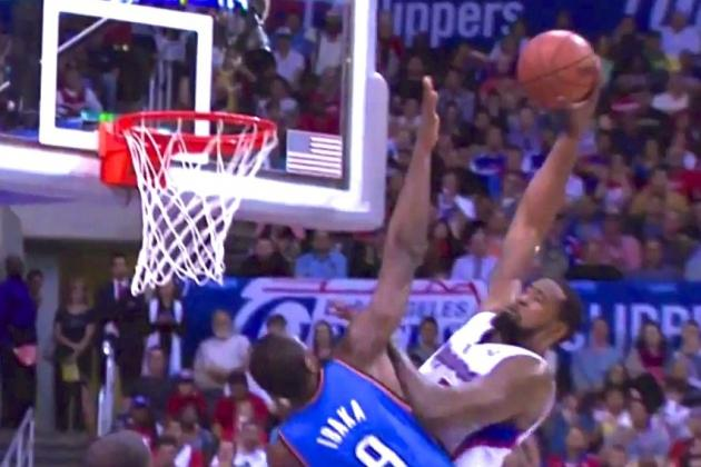 DeAndre Jordan Puts Serge Ibaka on a Poster with Vicious Jam