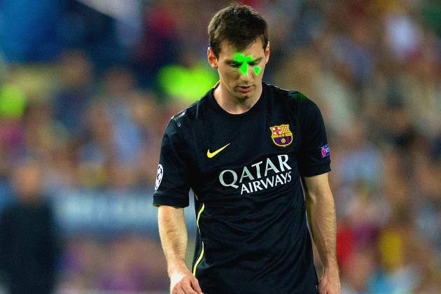 Lionel Messi Targeted by Laser During Barcelona's Loss to Atletico Madrid