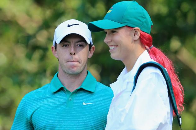 Pink-Haired Caroline Wozniacki Teaches Rory McIlroy to Putt at Masters