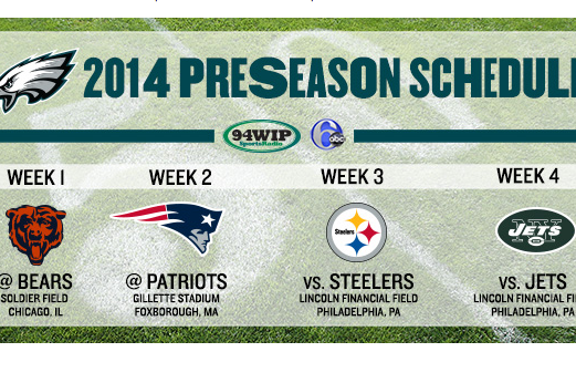 Eagles Release 2014 Preseason Schedule