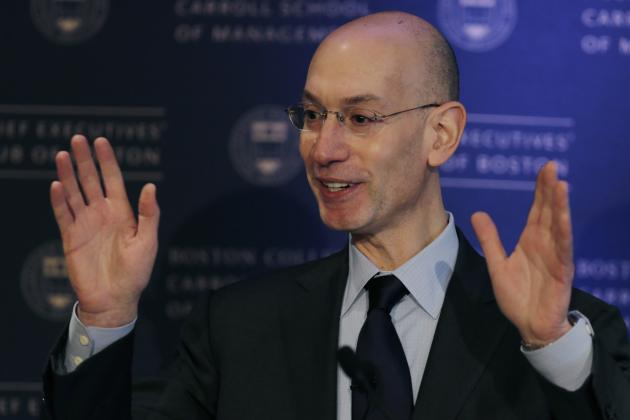 Commissioner Adam Silver Calls Ads on Jerseys 'Viable' and 'Inevitable'