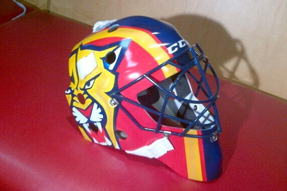 Roberto Luongo's New Panthers Mask Is Pretty Hawt