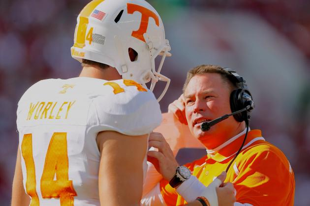 Tennessee Head Coach Butch Jones Wise to Narrow QB Race in Spring