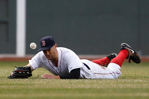 Grady Sizemore Plays Left Field for the First Time