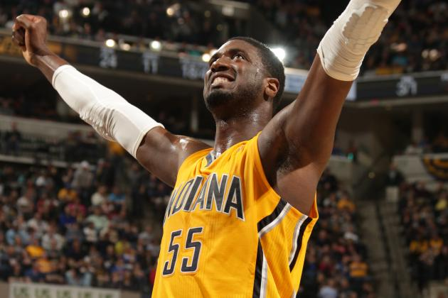 Dunking Roy Hibbert Was 'Like a Gazelle' in 1st Practice Since Pacers' Rest Day