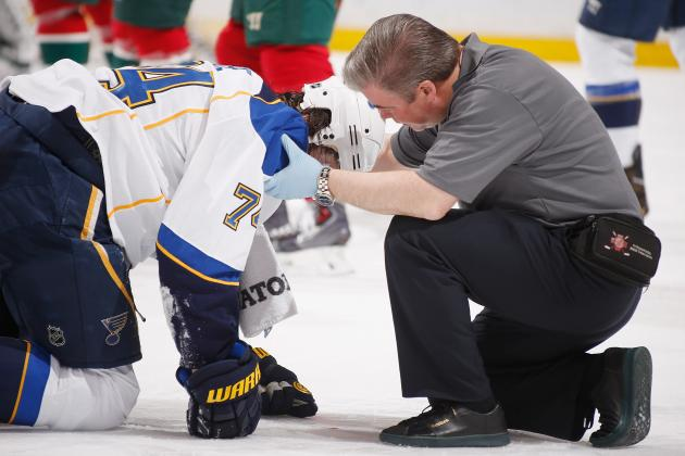 Mike Rupp Blindsides Blues' T.J. Oshie with Vicious Hit to the Head