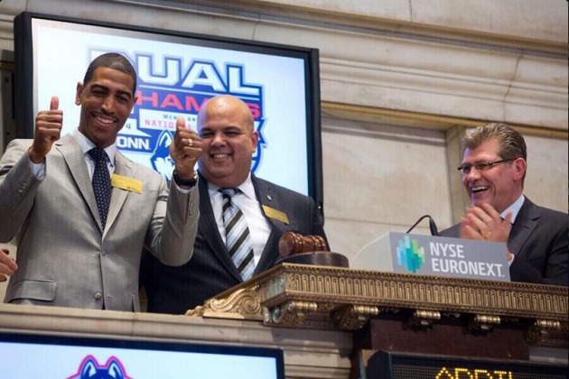 Photos: Kevin Ollie, Geno Auriemma Ring Bell at NYSE