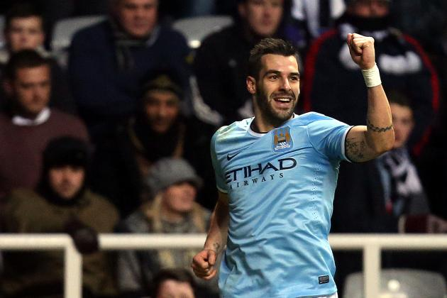 Alvaro Negredo Scores Incredible Goal Ahead of Liverpool vs. Manchester City