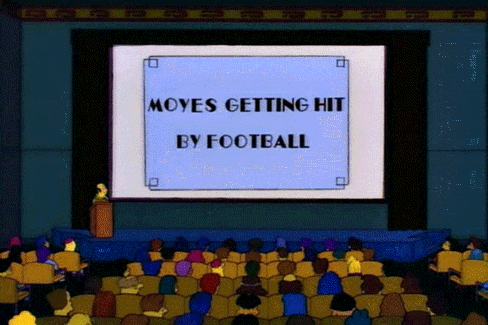 David Moyes' Football in the Groin, Simpsons Mash-Up Gif Goes Viral